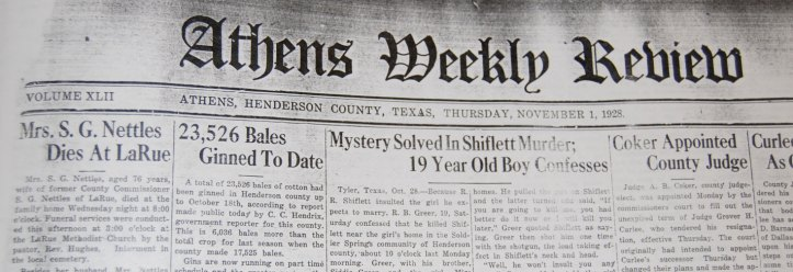 The death of Mary Nettles made front page news.