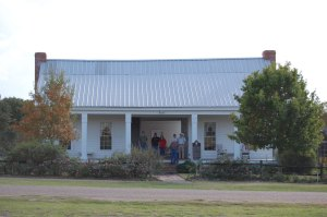 Bush Woffard house, oldest surviving structure in Henderson County, Texas.