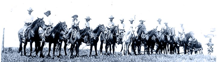 JA Cowboys at the Woodburn Place. From the Iva Belle Moore Tucker collection.