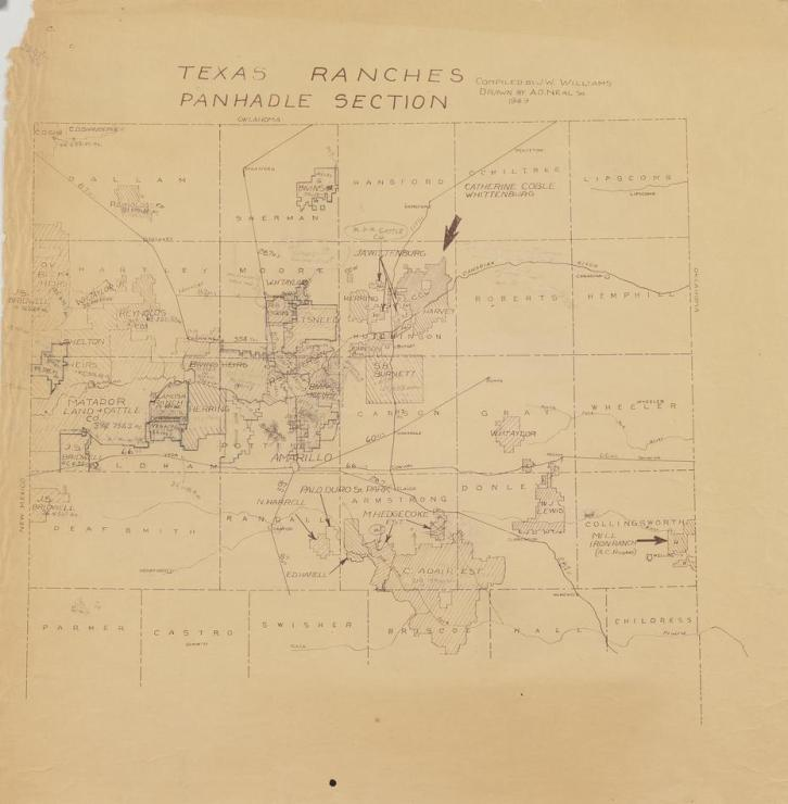 1949 Williams, J. W. & Neal, A.D., Sr. Texas Ranches Panhandle Section.