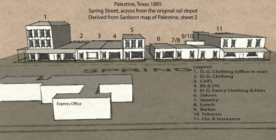 Palestine 1885 Sketchup Front Face