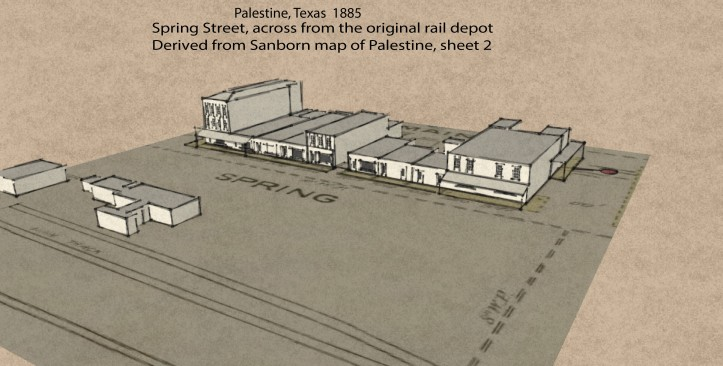 Palestine 1885 Sketchup right aerial perspective